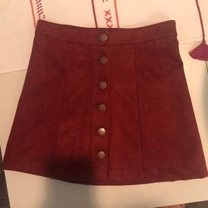 Forever 21 red suede skirt